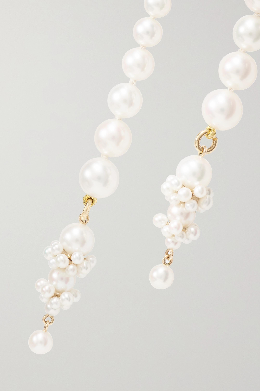 Sophie Bille Brahe + Cecilie Bahnsen Mimosa 14-karat gold pearl necklace