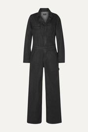 The Julie denim straight-leg jumpsuit