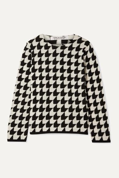 Houndstooth Wool Sweater by Comme Des Garçons Comme Des Garçons