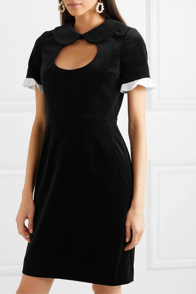 Comme des Garçons GIRL | Ruffle trimmed cutout cotton velvet