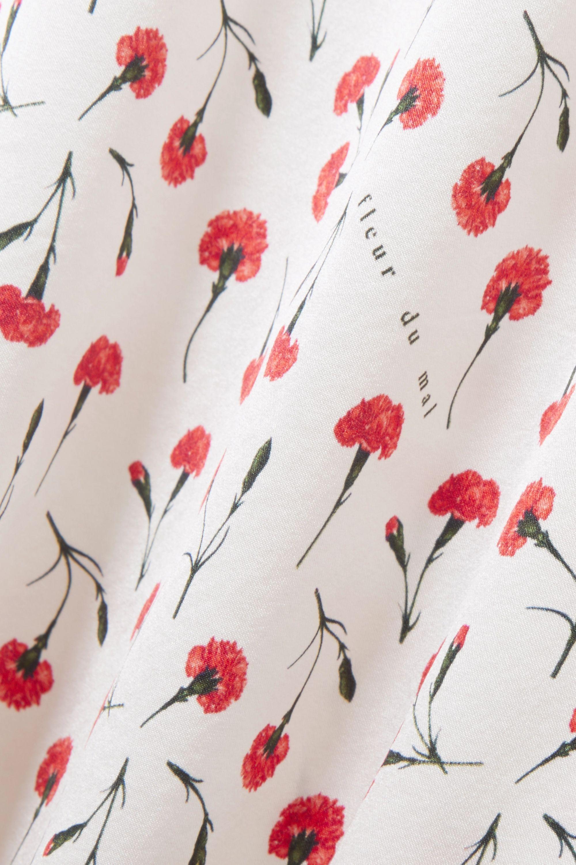 Fleur du Mal James lace-trimmed floral-print stretch-silk chemise