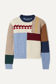 Patchwork wool sweater