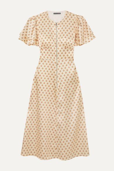 floral-print-satin-midi-dress by alexachung