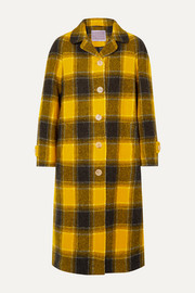 ALEXACHUNG Oversized checked wool coat