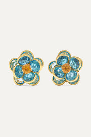 Guita M 18-karat gold, topaz and citrine earrings