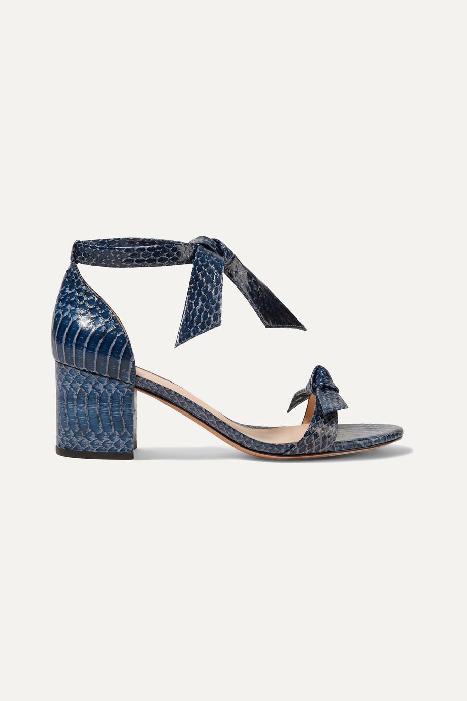 Alexandre Birman Clarita bow-embellished watersnake sandals