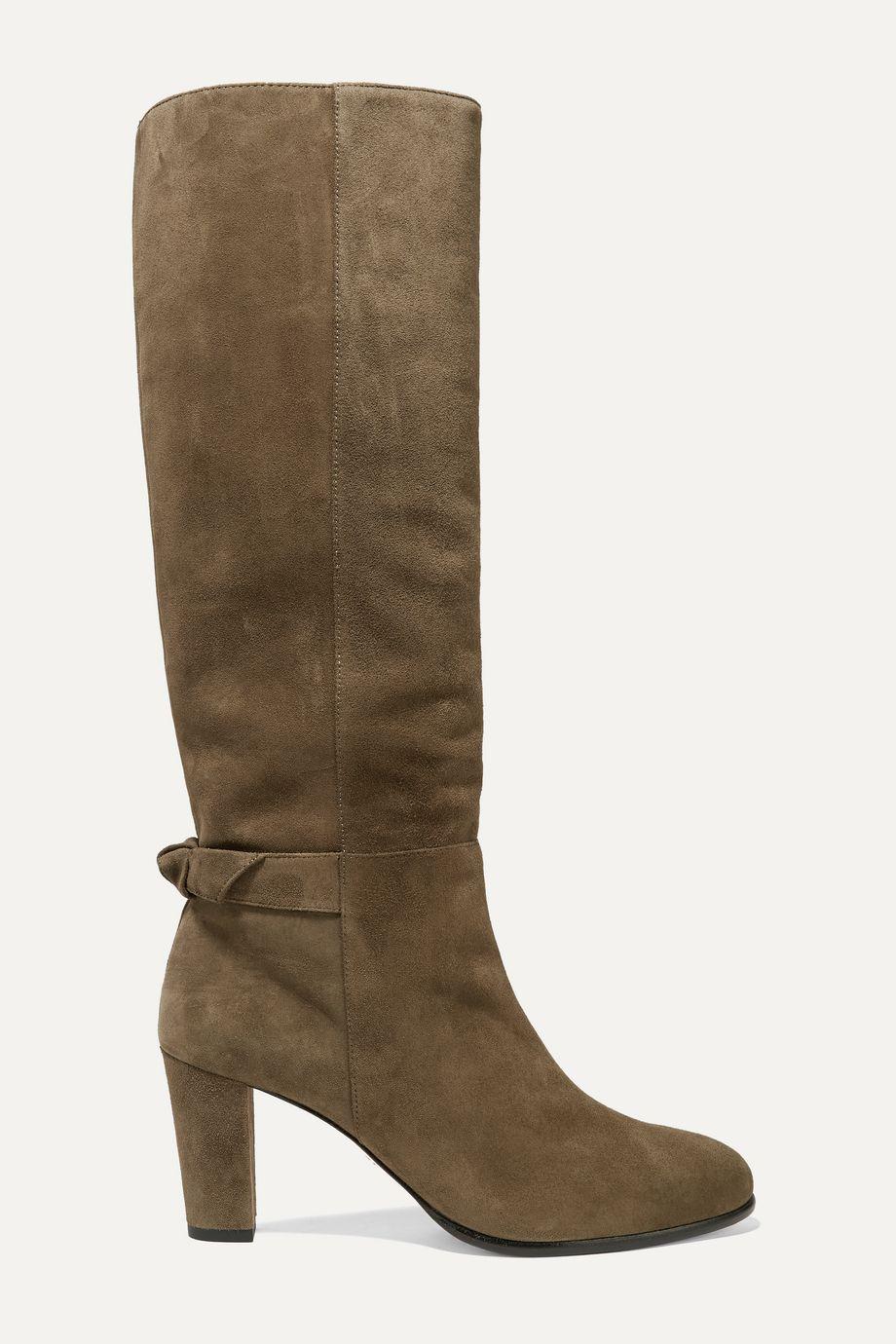 Alexandre Birman Rachel bow-embellished suede knee boots