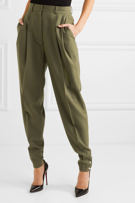 Altuzarra Atomica pleated wool-blend tapered pants