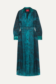 F.R.S For Restless Sleepers Belted printed hammered-satin maxi dress