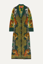 F.R.S For Restless Sleepers Nottie printed silk-twill maxi dress