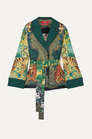 F.R.S For Restless Sleepers Giocasta printed silk-twill jacket