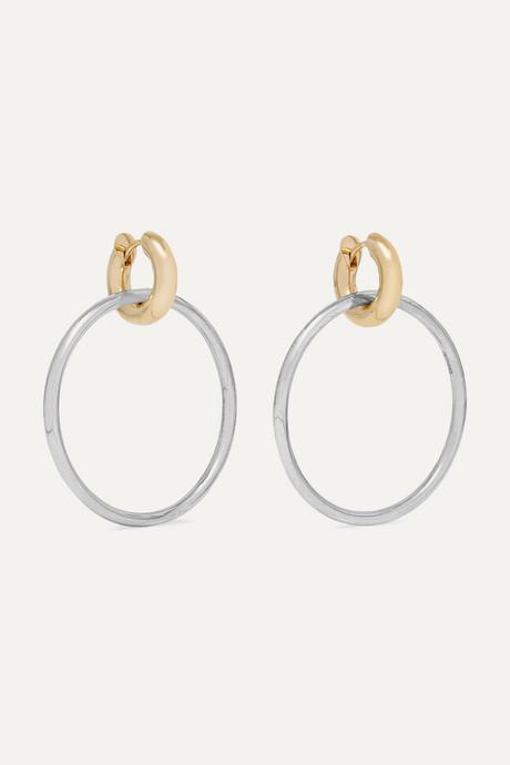 Gold Casseus sterling silver and 18-karat gold earrings | Spinelli Kilcollin DbwrfI