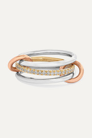 Sonny set of three 18-karat white, yellow and rose gold diamond rings