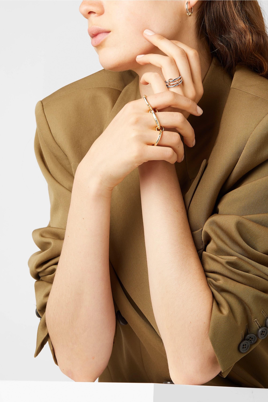 Spinelli Kilcollin Sonny set of three 18-karat white, yellow and rose gold diamond rings