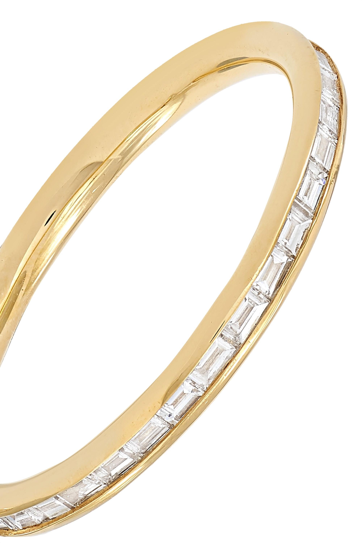 Spinelli Kilcollin Miri 18-karat gold diamond hoop earrings