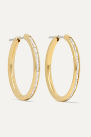 Miri 18-karat gold diamond hoop earrings