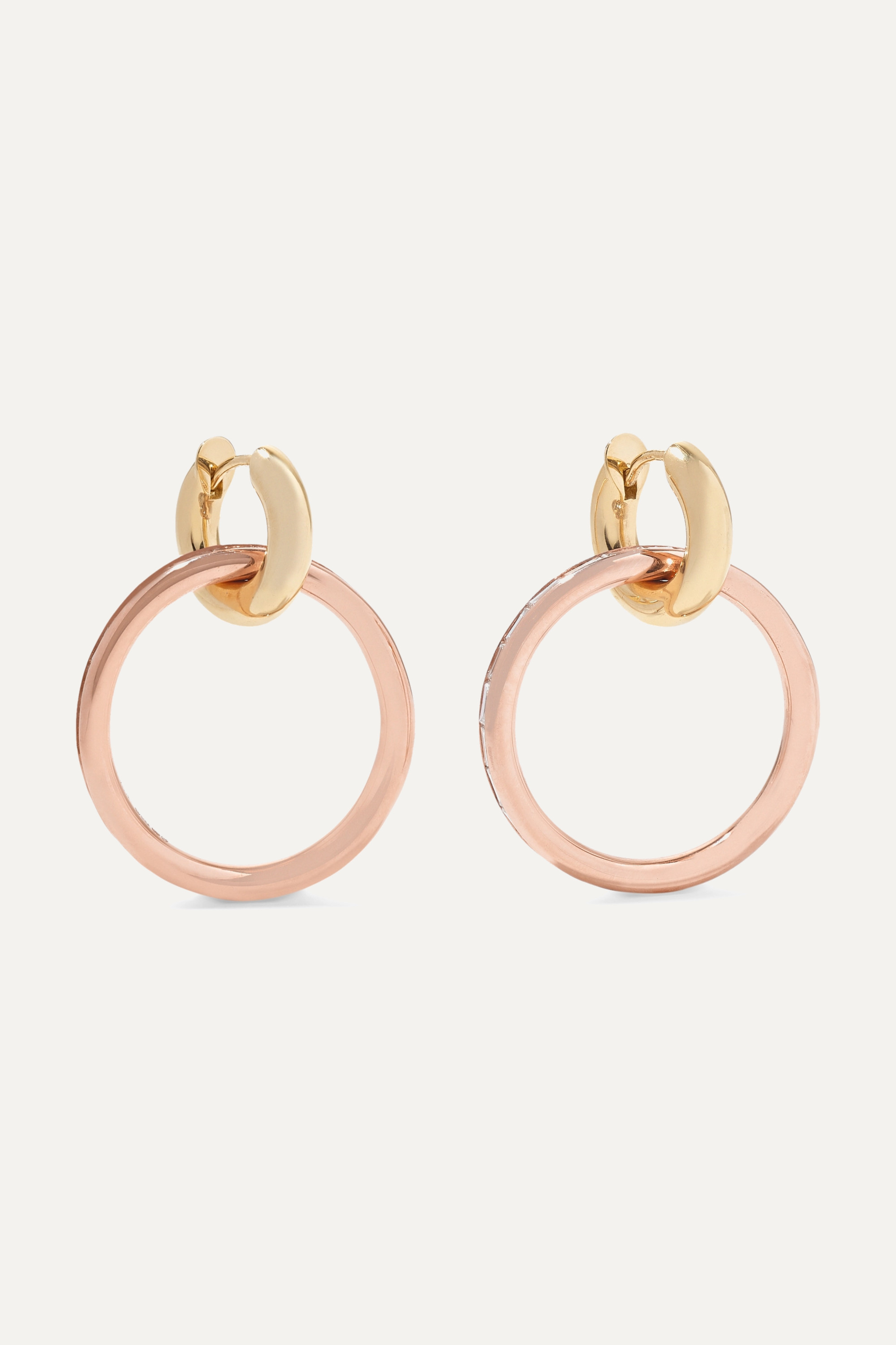 Spinelli Kilcollin Theano 18-karat rose and yellow gold diamond earrings