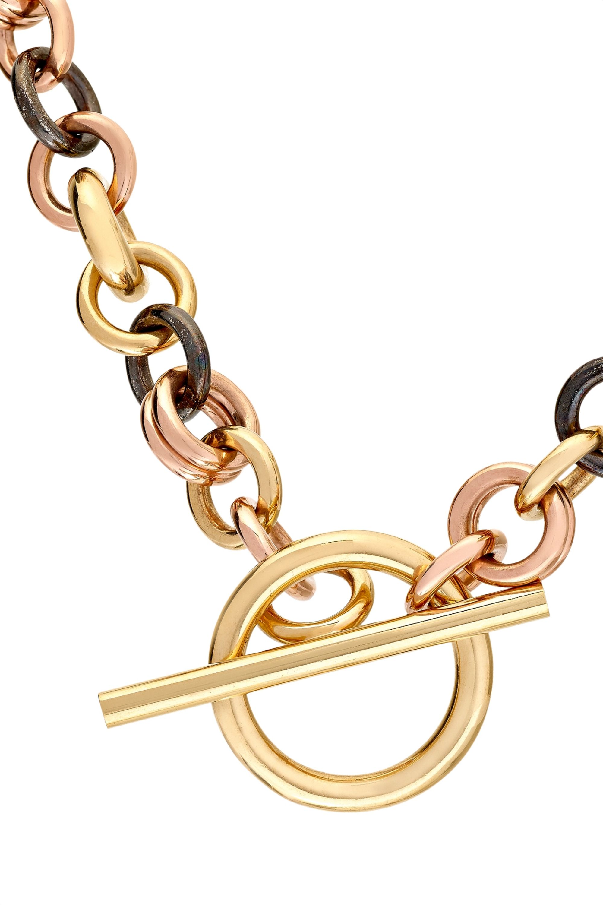Spinelli Kilcollin Crux 18-karat yellow and rose gold and rhodium-plated sterling silver necklace