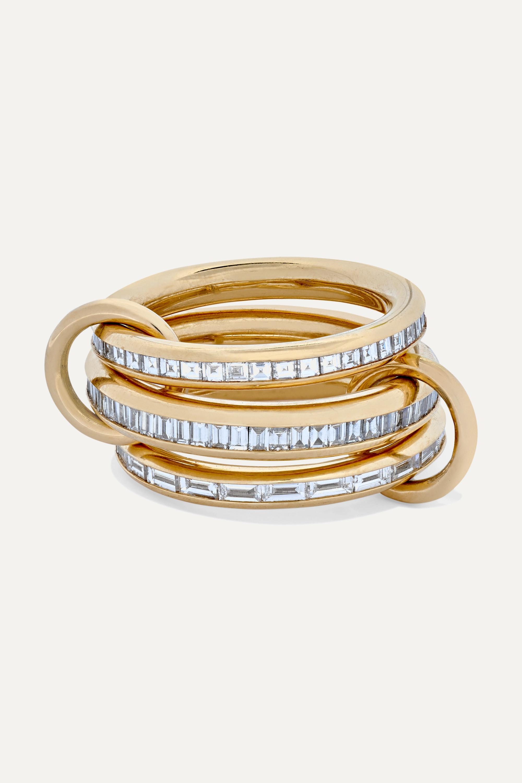 Spinelli Kilcollin Manava Set aus drei Ringen aus 18 Karat Gold mit Diamanten