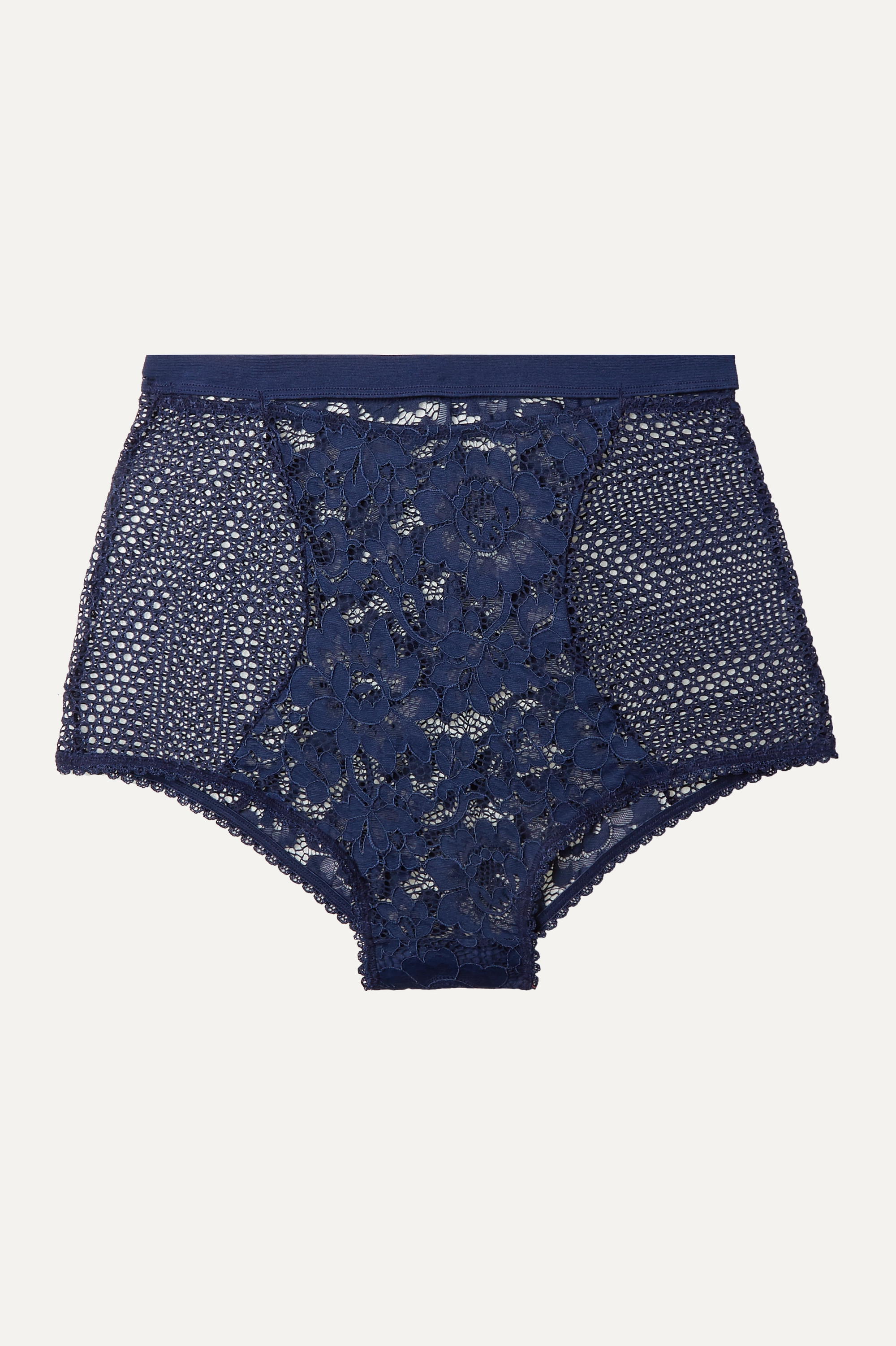 ELSE Petunia stretch-mesh and corded lace briefs