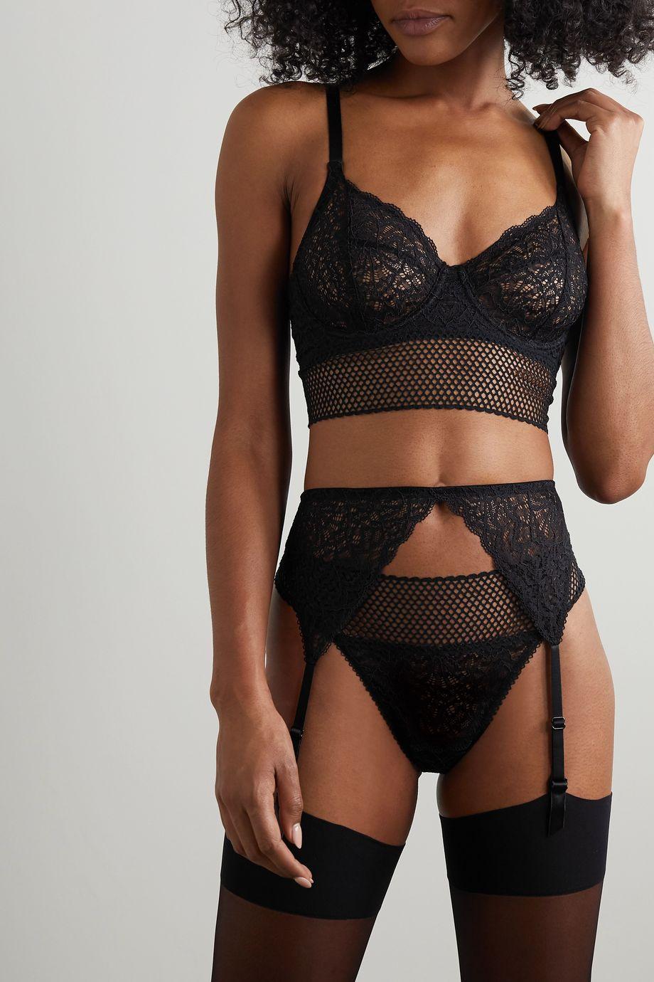 ELSE Arya corded lace suspender belt