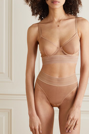 ELSE Bare stretch-tulle underwired bra