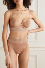 ELSE Bare stretch-tulle thong