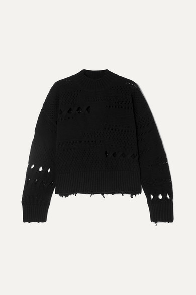 8febaf4192 Distressed wool sweater