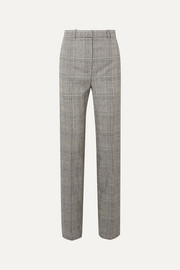 Prince of Wales checked wool straight-leg pants