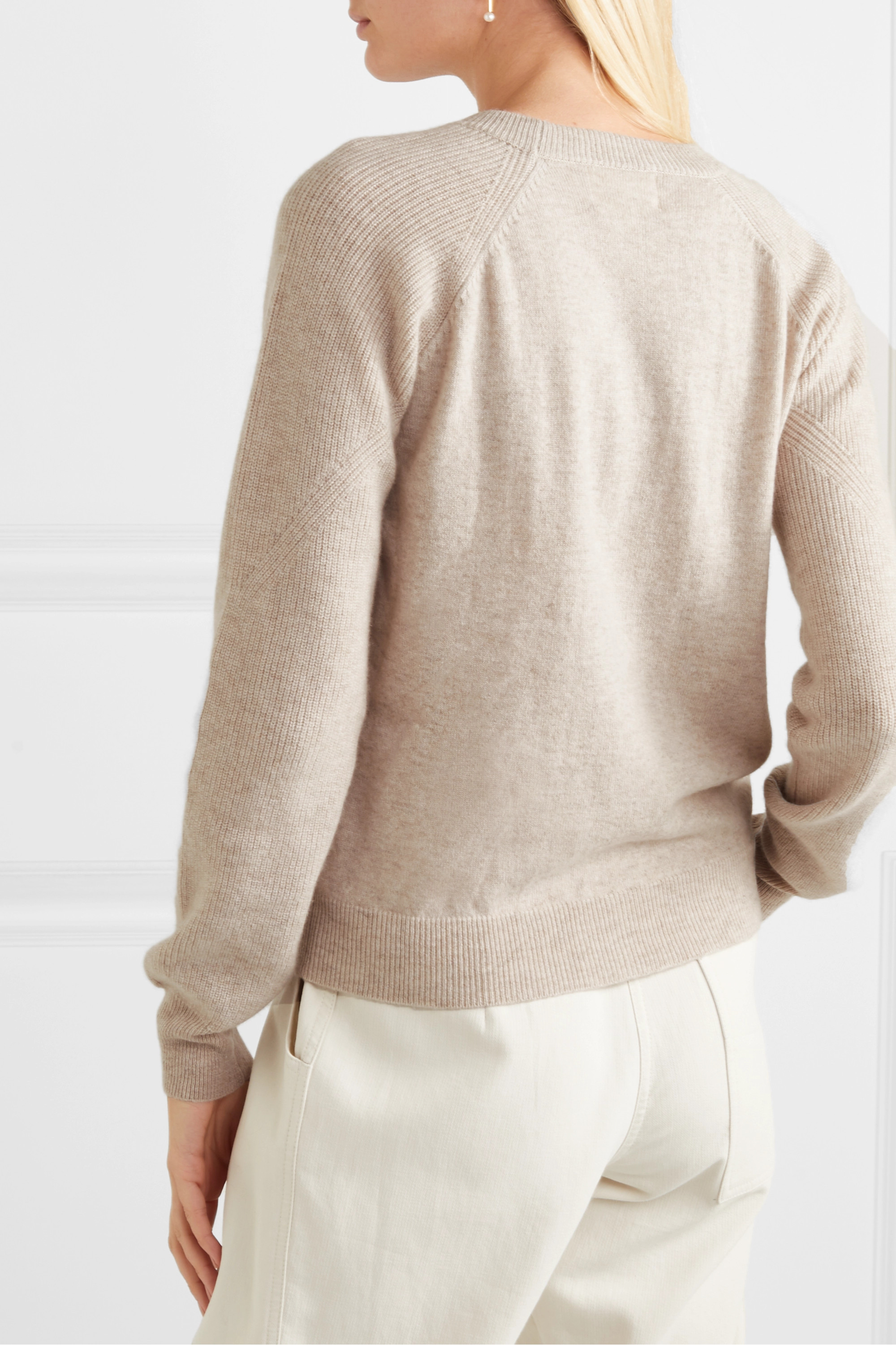 LOULOU STUDIO Levanzo ribbed mélange cashmere sweater