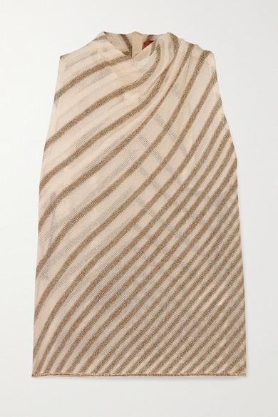 draped-striped-metallic-crochet-knit-top by missoni