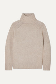 LOULOU STUDIO Oversized mélange wool-blend turtleneck sweater