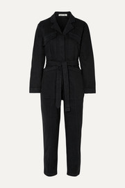 Expedition belted stretch-Tencel and cotton-blend twill jumpsuit