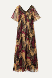 Mes Demoiselles Savannah printed crinkled-chiffon maxi dress