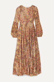 Mes Demoiselles Passiflore paisley-print crepe de chine maxi dress