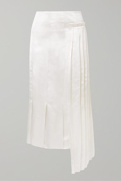 pleated-asymmetric-satin-midi-skirt by marni