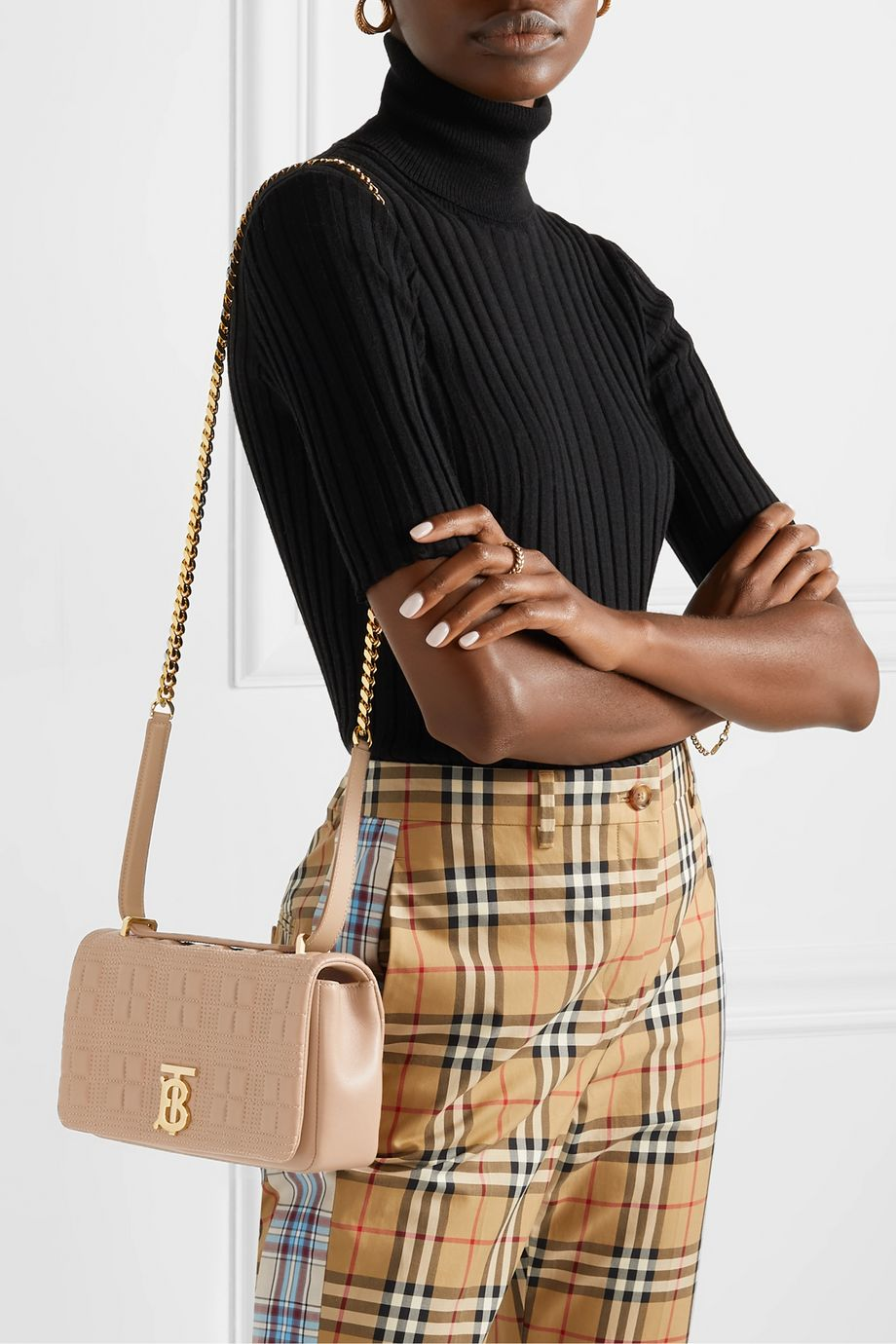 Burberry Small quilted leather shoulder bag
