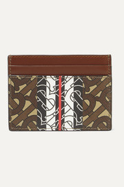 Burberry Printed textured-leather cardholder