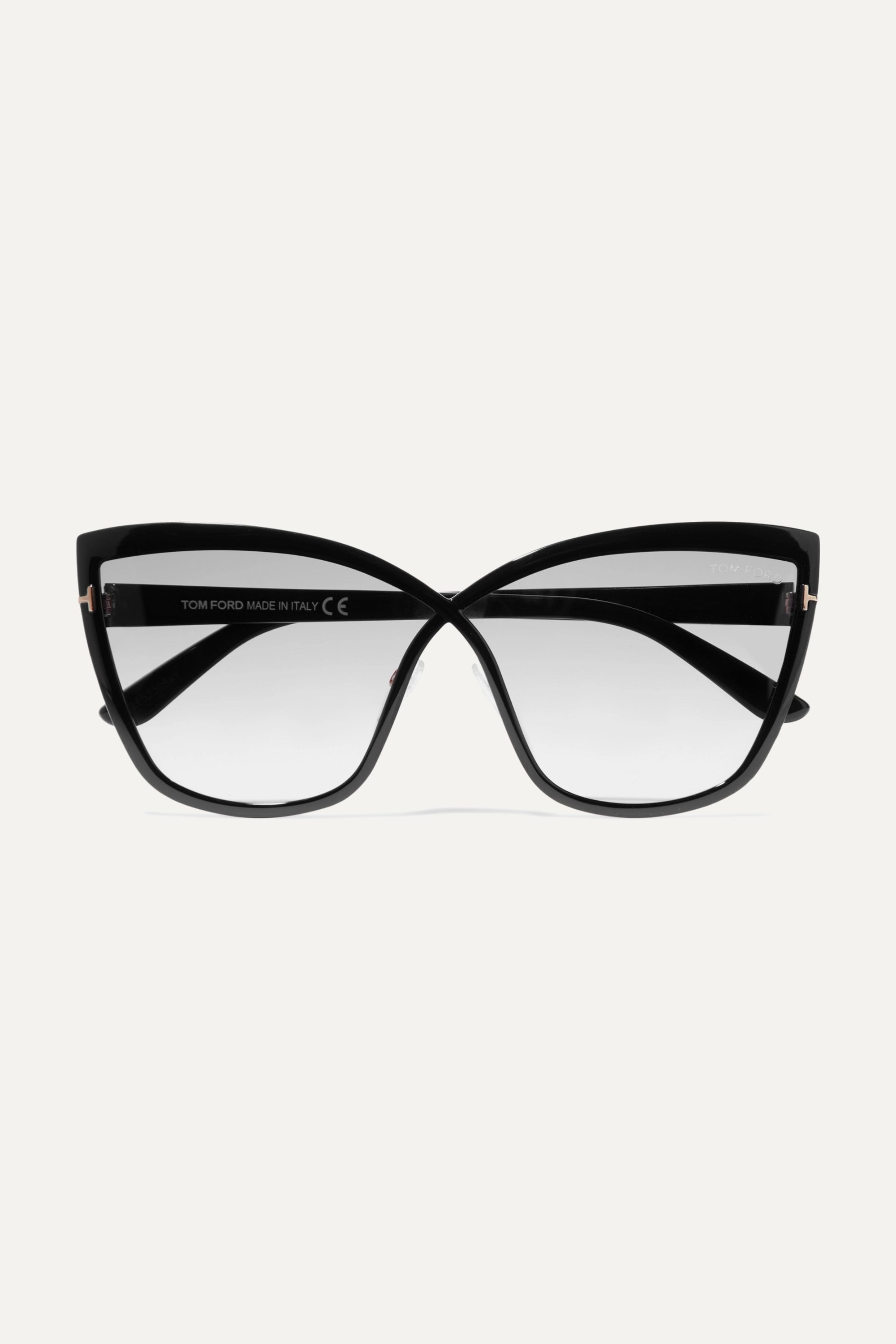 TOM FORD Sandrine cat-eye acetate and gold-tone sunglasses