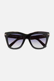 TOM FORD Julie D-frame acetate and gold-tone sunglasses