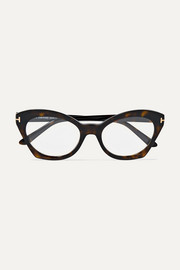 TOM FORD Cat-eye tortoiseshell acetate optical glasses