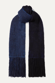 Gabriela Hearst Fringed tie-dyed cashmere scarf