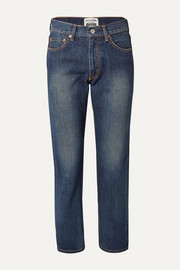 Junya Watanabe Cropped high-rise straight-leg jeans
