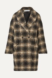 IRO Karsh double-breasted checked bouclé coat