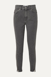 IRO Essey zip-embellished frayed high-rise skinny jeans