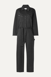 IRO Flories belted denim jumpsuit