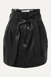 IRO Bolsy belted leather mini skirt