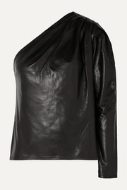 IRO Molia one-sleeve leather top