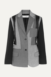 JW Anderson Patchwork wool, twill and satin blazer