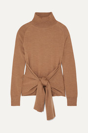 JW Anderson Tie-front wool turtleneck sweater